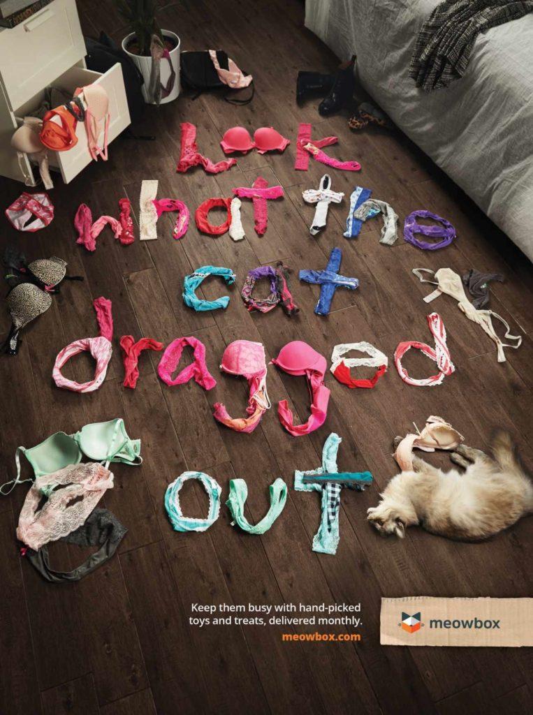 kreatywne reklamy prasowe // meowbox #print #advertising