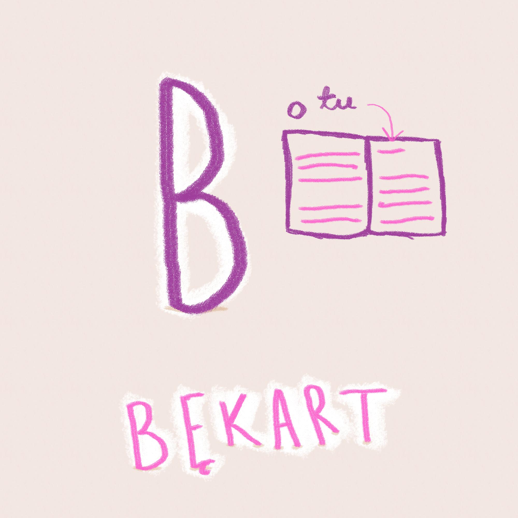 alfabet typograficzny bekarty