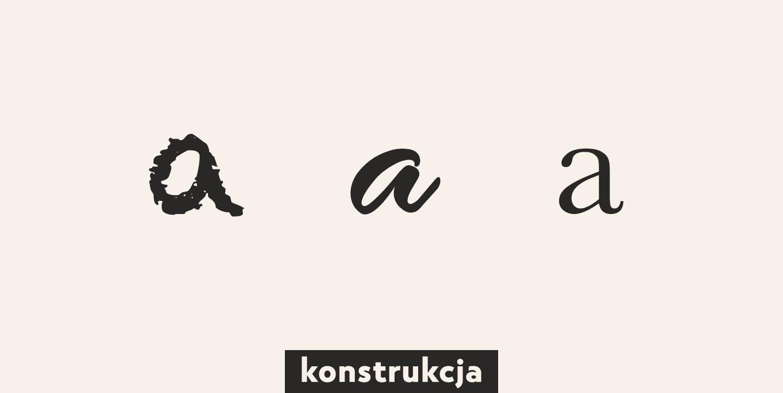 konstrukcja litery