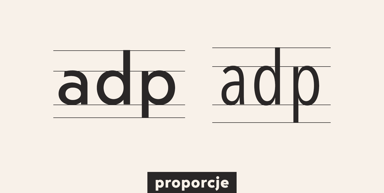 proporcje kroju pisma