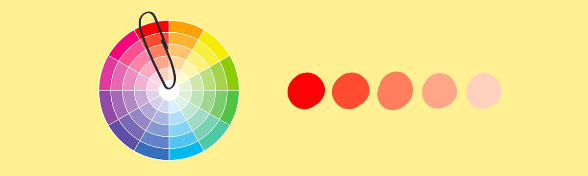 paleta monochromatyczna