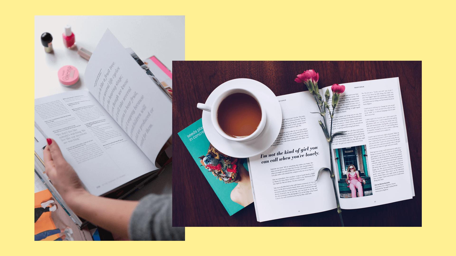 Inspiracje typograficzne w magazynach