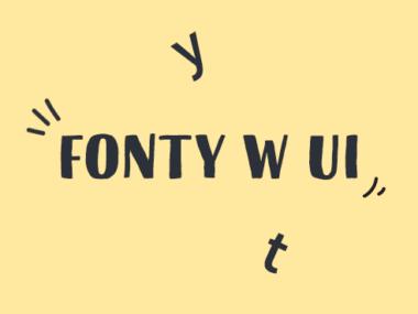 fonty do projektowania UI