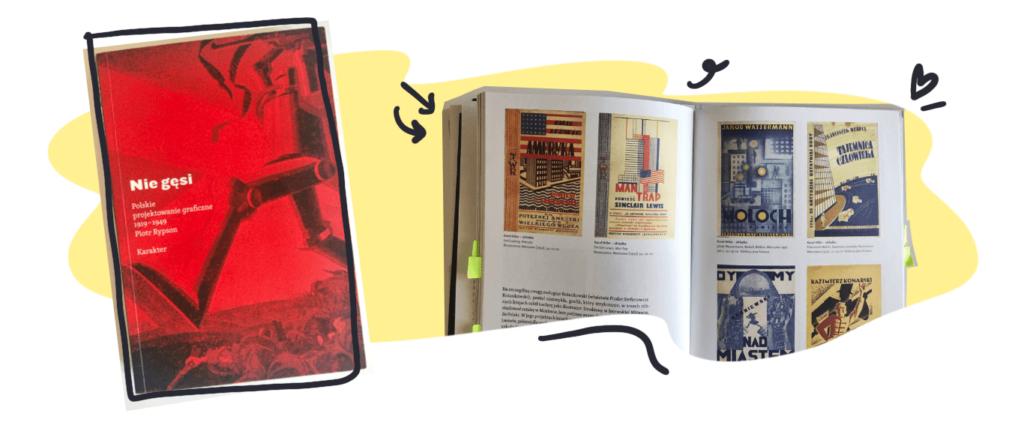Okładka książki NieGęsi iprzykładowa rozkładówka