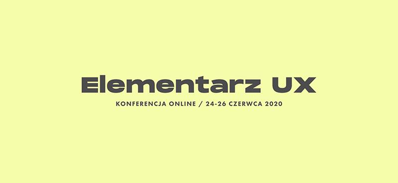 elementarz UX konferencja