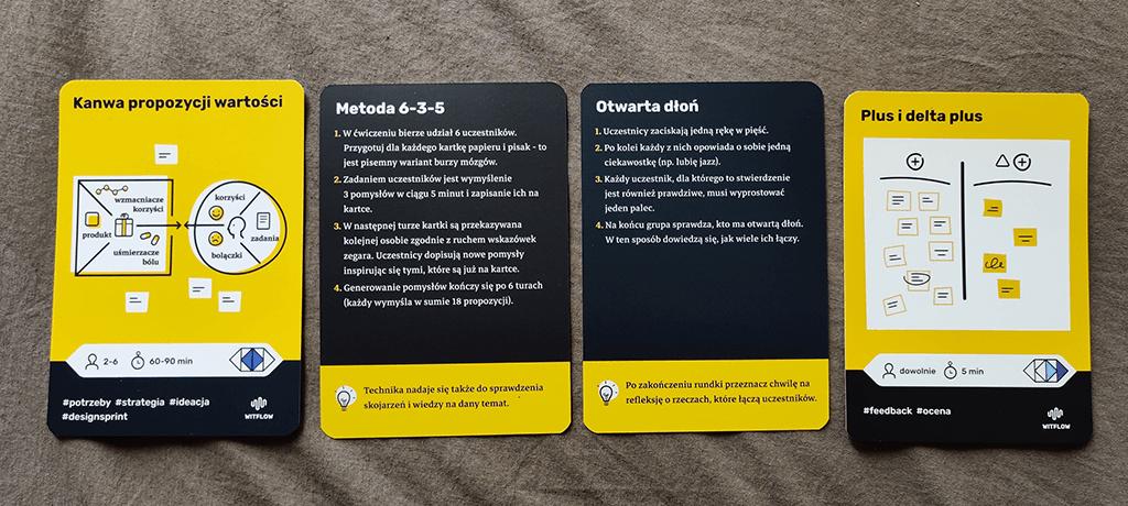 karty warsztatowe – przykładowe ćwiczenia