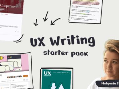 UX writing – kurs, książki, blogi
