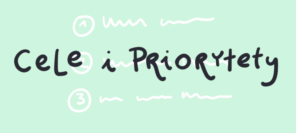 Tytuł graficzny: Cele ipriorytety